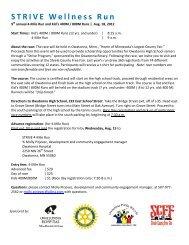 STRIVE Wellness Run - Steele County Free Fair