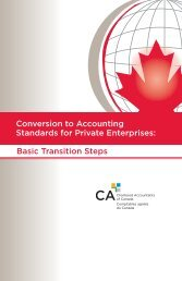 Conversion to Accounting Standards for Private Enterprises: Basic ...