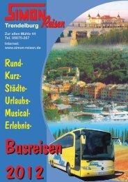 Rund- Kurz- Städte- Urlaubs- Musical- Erlebnis- - Simon Reisen