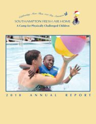View the 2010 Annual Report - Southampton Fresh Air Home