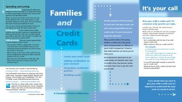 Families Credit Cards and - Consumer Action