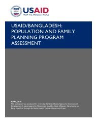 usaid/bangladesh: population and family planning ... - GH Tech