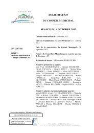 Décision modificative n° 1 - Budget commune 2012 - Site officiel ...