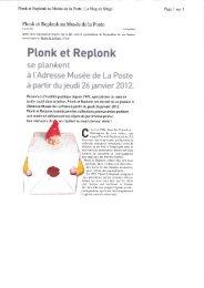 Plonk et Replonk au Musée de la Poste