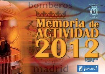 MEMORIA DE ACTIVIDAD 2012 BOMBEROS AGSyE