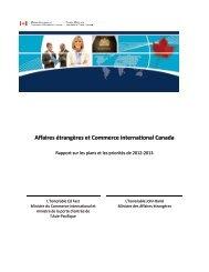 Affaires étrangères et Commerce international Canada