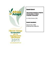 Links between adaptation, mitigation and low carbon, or - Africa Adapt