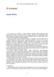 Michela Zannini - Il trauma - ACP