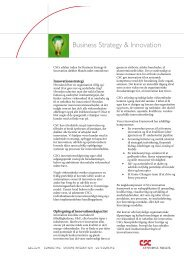 Business Strategy & Innovation - CSC