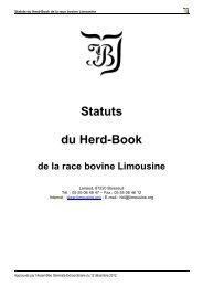 STATUTS DU HERD-BOOK DE LA - Limousine.org