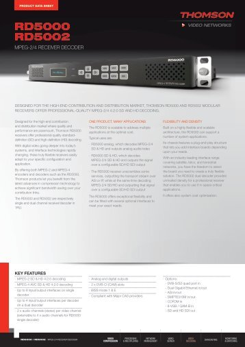 Download - Thomson Video Networks