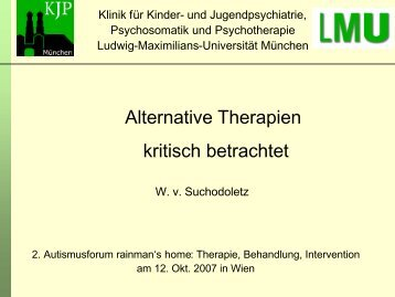 Alternative Therapien kritisch betrachtet