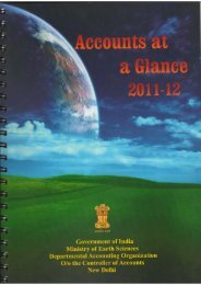 Accounts at a Glance (2011-12) - Ministry Of Earth Sciences