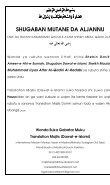 SHUGABAN MUTANE DA ALJANNU - Dawat-e-Islami - Page 2