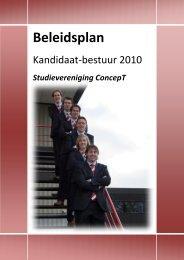 Beleidsplan - Studievereniging ConcepT - Universiteit Twente