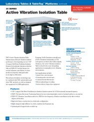 Active Vibration Isolation Table - Photon Lines