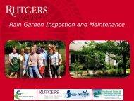Rain Garden Inspection and Maintenance