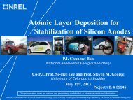 Atomic Layer Deposition for Stabilization of Silicon Anodes