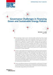 Governance challenges in financing green and sustainable energy ...