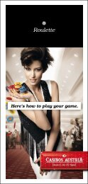 Gaming Explanation Folder: Roulette (pdf, 1671 KB) - Casinos Austria