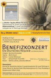BENEFIzkONzERt BENEFIzkONzERt - Vinzenz Gruppe
