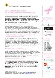 PINK RIBBON TOUR 2007: - Österreichische Krebshilfe