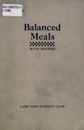 Balanced Meals - University Library