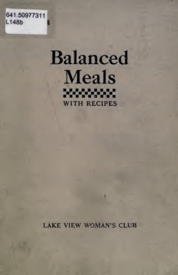Balanced Meals - University Library