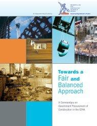 Towards a Fair and Balanced Approach - rccao