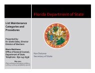 List Maintenance-Ineligibility - Florida Department Of State