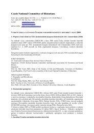 Zpráva o činnosti Českého národního komitétu historiků v roce 2009