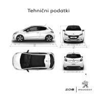Tehnični podatki - Peugeot