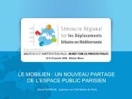 Le mobilien : un nouveau partage de l'espace public ... - Euromedina