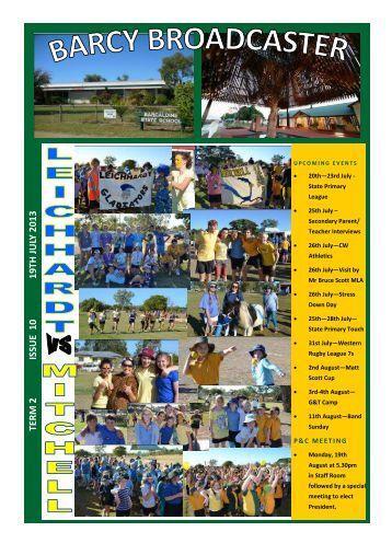 Issue-10-newsletter-19-07-2013 - Barcaldine Prep-12 State School