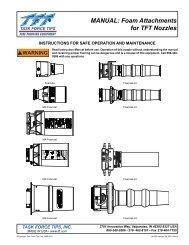 MANUAL: Foam Attachments for TFT Nozzles