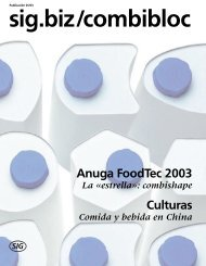 Anuga FoodTec 2003 - SIG Combibloc