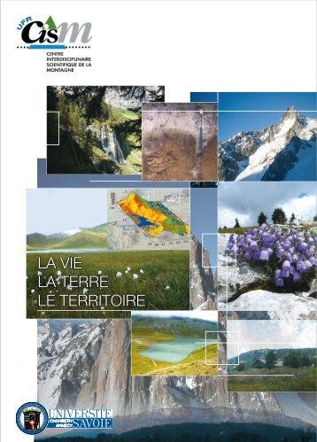 la vie la terre le territoire - Centre Interdisciplinaire Scientifique de la ...