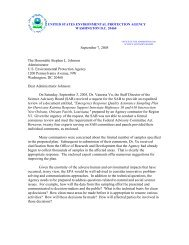 September 7, 2005 The Honorable Stephen L. Johnson ...