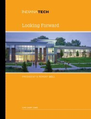 2011 President's Annual Report - Indiana Tech