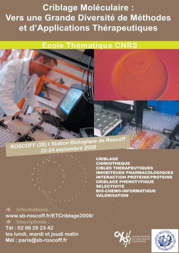 Criblage Moléculaire : Vers une Grande Diversité de ... - CNRS
