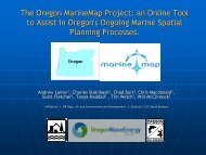 the oregon marine map project: an online tool to assist in - GeoTools