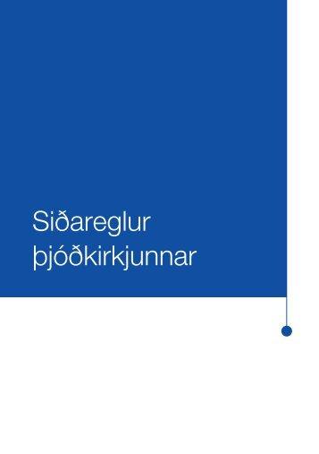 Siðareglur þjóðkirkjunnar - Kirkjan.is