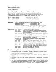 curriculum vitae - Mechanical Engineering - Johns Hopkins University