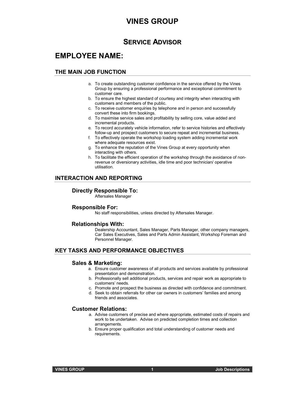 business job description marketing job description samples mind