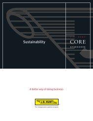 Sustainability - J.B. Hunt Transport Services, Inc.