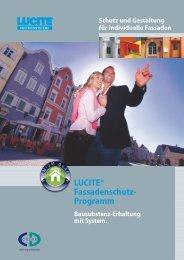 LUCITE® Fassadenschutz- Programm - CD-Color GmbH & Co.KG