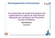 Co-construction du projet d'évaluation de la ... - Loire Solidaires