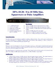 DPA-10-20 - Precision Test Systems Limited