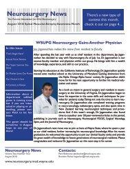 Neurosurgery News - Department of Neurosurgery - Wayne State ...