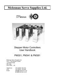 PM301, PM341 and PM381 - Stepper Controllers - Mclennan Servo ...